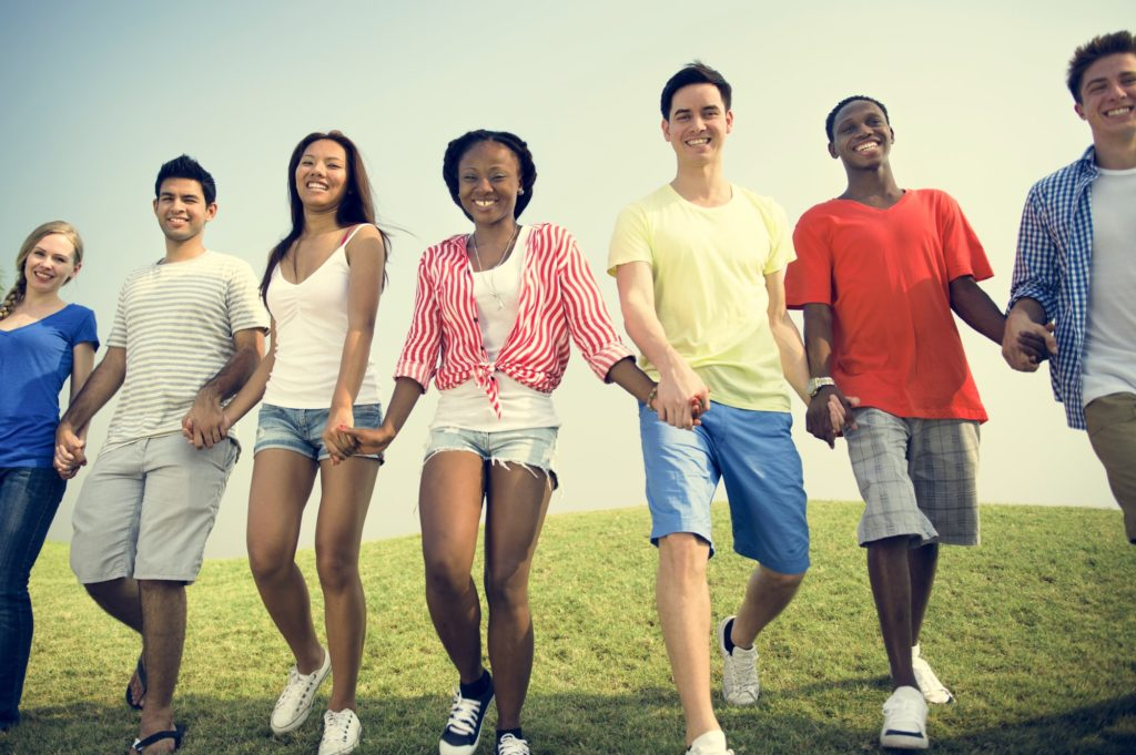 African Descent Community Cheerful Happiness Concept